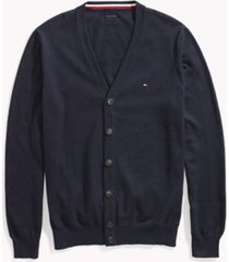 tommy hilfiger men's adaptive solid cardigan navy blazer - s