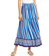 women's gibson x hi sugarplum! portofino tiered midi skirt, size - (regular & petite) (nordstrom exclusive)