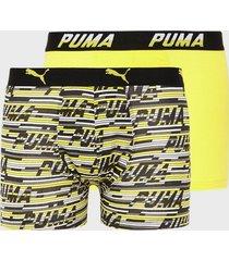 puma logo aop boxer 2p boxershorts yellow