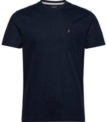 sunset ss pkt tee t-shirts short-sleeved blå farah