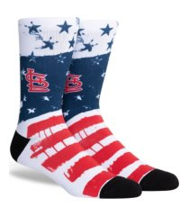 parkway men's st. louis cardinals stars and bars socks