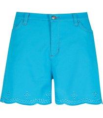shorts di jeans con pizzo traforato (blu) - john baner jeanswear