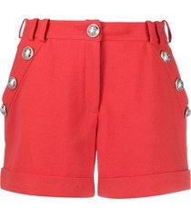 balmain decorative buttons shorts - orange