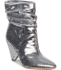 akittan/shootie shoes boots ankle boots ankle boots with heel silver guess