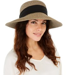 nine west mixed-braid scarf floppy hat