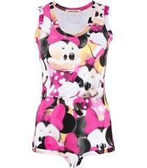 comme des garçons mini mouse-print sleeveless bodysuit - pink