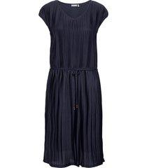 frjeplisse 1 dress knälång klänning blå fransa