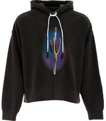 palm angels cactus print hoodie