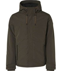 no excess jacket hooded padded double front c dark steel
