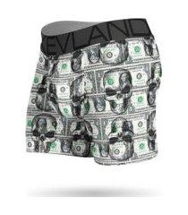 cueca boxer kevland dolar skulls ii verde
