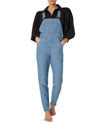 weworewhat women's five-pocket denim overalls - sky chambray - size xs