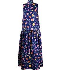 plan c drop-waist sleeveless dress - blue