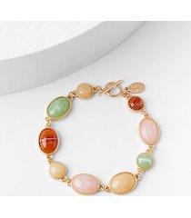 loft glossy stone toggle bracelet