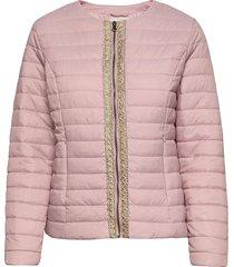 crgilliana quilt jacket kviltad jacka rosa cream