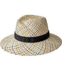 maison michel virginie woven fedora hat - neutrals