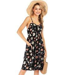 falda liguero floral gasa mujer