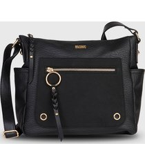 cartera  cork fw20 negro secret by saxoline