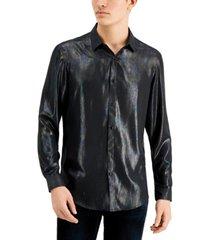 inc men's zenith iridescent shirt, created for macy's