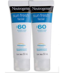 kit 2 protetor solar facial neutrogena sun fresh fps 60 50g