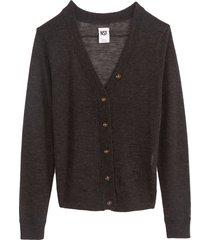 freddie shrunken cardigan sweater in crow