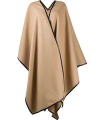 balmain draped wrap cape - neutrals