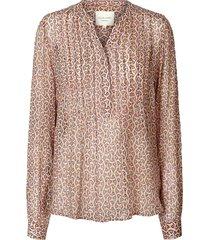 blouse met print helen  roze