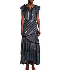 nadia striped maxi dress