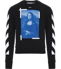 off-white blue monalisa sweatshirt