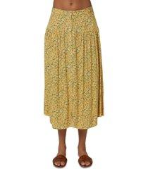 o'neill juniors' shane ditsy-print skirt