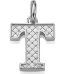 alphabet pendant t, sterling silver
