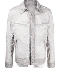 isaac sellam experience refractaire multi-pocket shirt jacket - grey