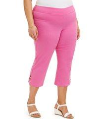 jm collection plus size capri pants, created for macy's