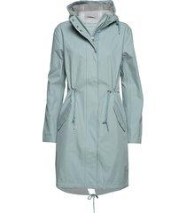 raincoat parka lange jas jas blauw ilse jacobsen