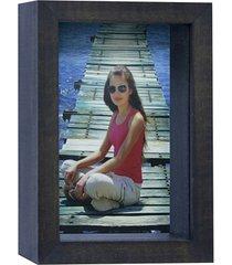 porta retrato caixa color 15x21cm imbuia