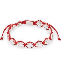 stainless steel cross charms rope bracelet