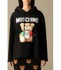 moschino couture sweatshirt moschino couture over hoodie with teddy