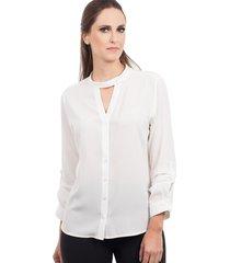 camisa love poetry botões branca