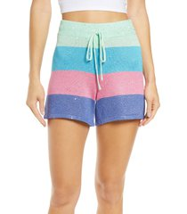 beach riot sandy tie waist shorts, size x-large in mod stripe at nordstrom