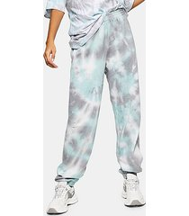 tall blue tie dye sweatpants - blue