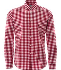 none of the above oxford shirt - breeze | red check | notabrz-red