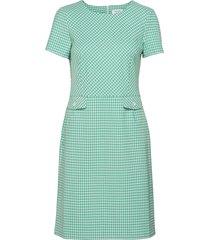 dress woven fabric knälång klänning grön gerry weber