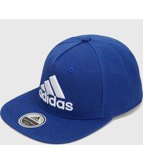 gorra azul-blanco adidas performance snapback trucker