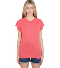 iro harmon t-shirt in red linen
