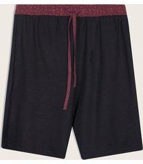 bermuda pijama interior contraste negro s