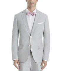 lauren by ralph lauren classic fit suit separates coat blue & white seersucker