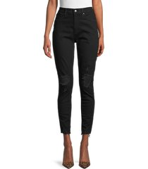 joe's jeans women's high-rise ripped skinny ankle jeans - tharsis - size 29 (6-8)
