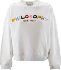 philosophy di lorenzo serafini cotton colours logo sweatshirt