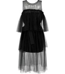 gloria coelho ballerina tulle dress - black