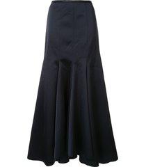acler jervois a-line maxi skirt - blue