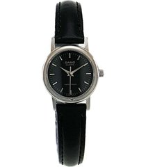 reloj casio ltp_1095e_1a negro cuero